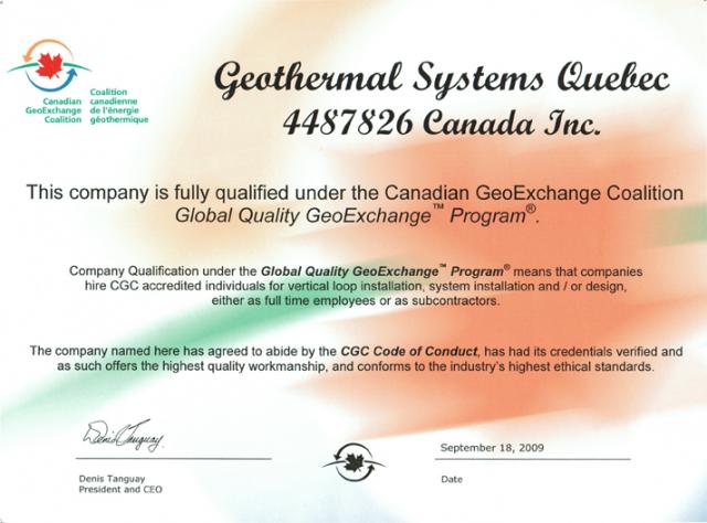 Geobec » Accreditation & Certification